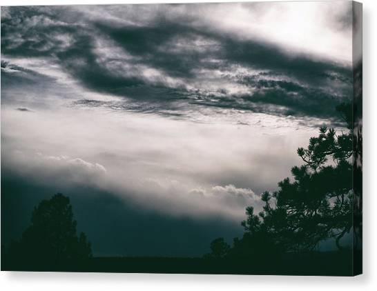 Canvas Print featuring the photograph Spring Storm Cloudscape by Jason Coward