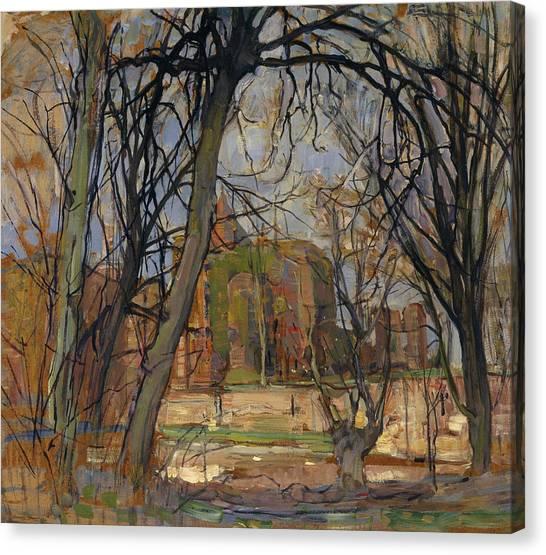 De Stijl Canvas Print - Spring Sun, Lentezon - Castle Ruin Brederode by Piet Mondrian