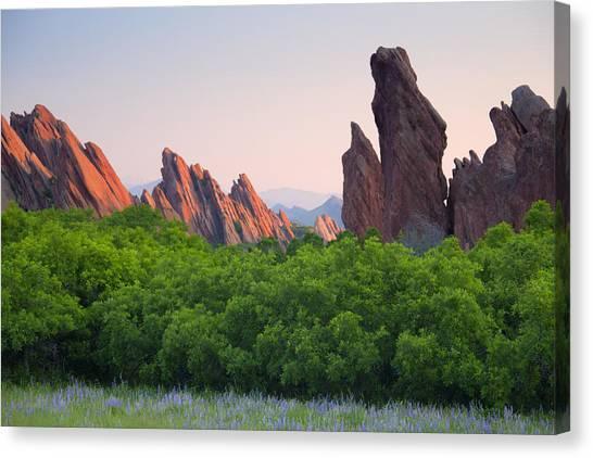 Spring Sunrise At Roxborough Canvas Print