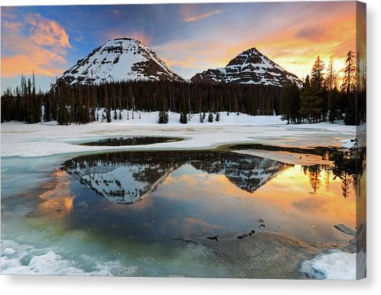 Uinta Canvas Print - Spring Sunset In The Uinta's. by Johnny Adolphson