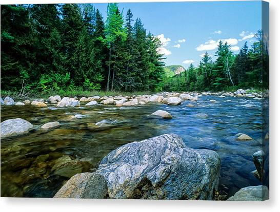 Spring-swift River Nh Canvas Print