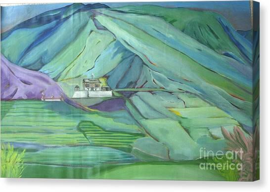 Spring Time In Thimpu Canvas Print by Duygu Kivanc