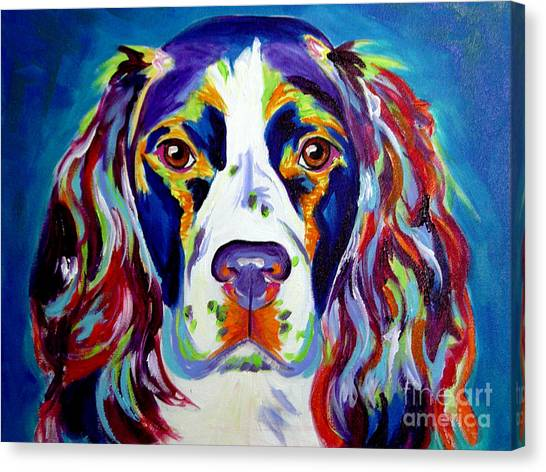 Breed Canvas Print - Springer Spaniel - Cassie by Alicia VanNoy Call