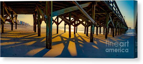 Springmaid Pier At Sunrise Canvas Print