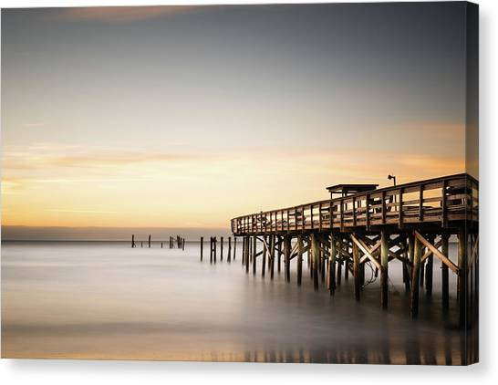South Carolina Canvas Print - Springmaid Pier Mathew Aftermath by Ivo Kerssemakers