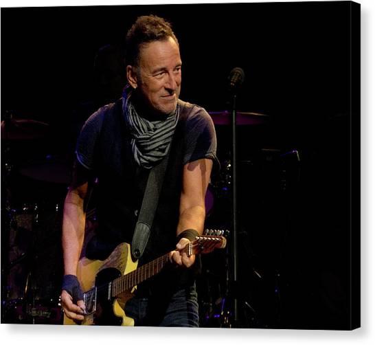 Springsteen-cleveland River Tour 2016 Canvas Print