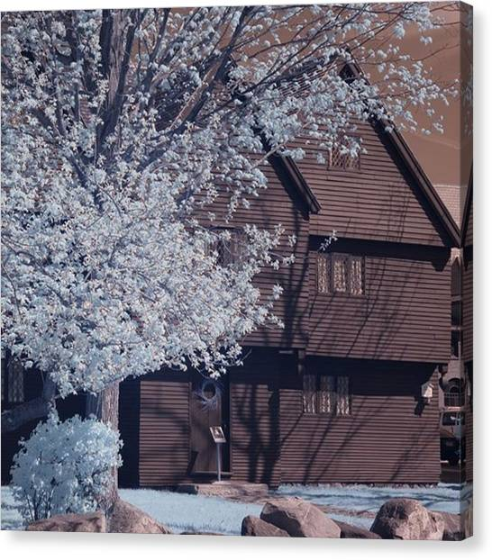Witches Canvas Print - Springtime At The Witch House Of Salem by Jeff Foliage