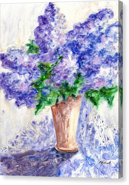 Lavendar Canvas Print - Springtime Fragrance by Marsha Elliott