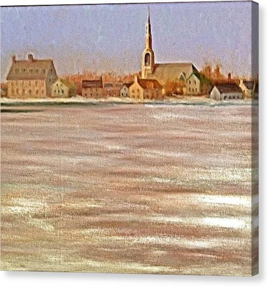 Springtime Lac St Louis Qc Canvas Print by Chris  Riley