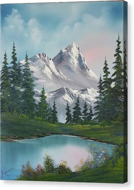 Bob Ross Canvas Print - Springtime Mountain by John Koehler