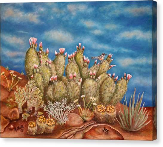 Springtime Succulence Canvas Print by Kathy Shute
