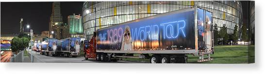 Taylor Swift Canvas Print - Sprint Center, Kansas City, 1989 World Tour by Tom Pugh