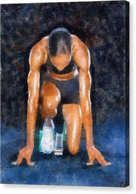 Sprint Canvas Print