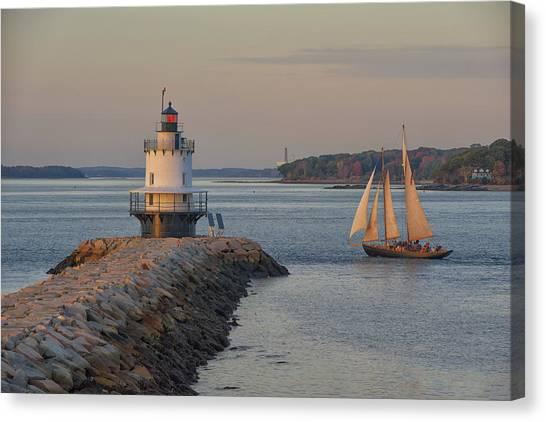 Sprint Point Ledge Sails Canvas Print