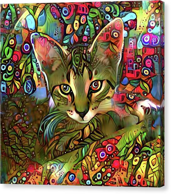 Sprocket The Tabby Kitten Canvas Print