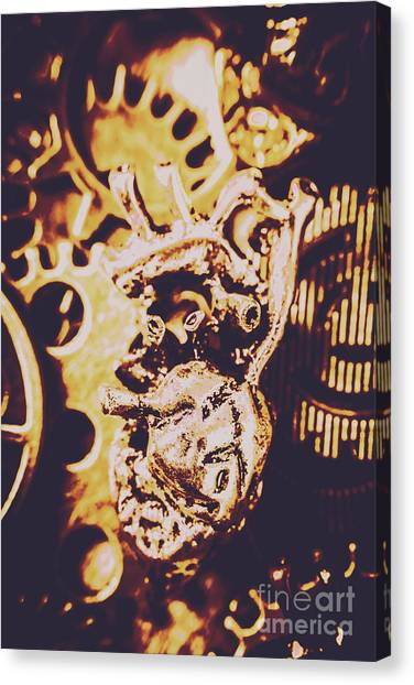 Repairs Canvas Print - Sprockets And Clockwork Hearts by Jorgo Photography - Wall Art Gallery