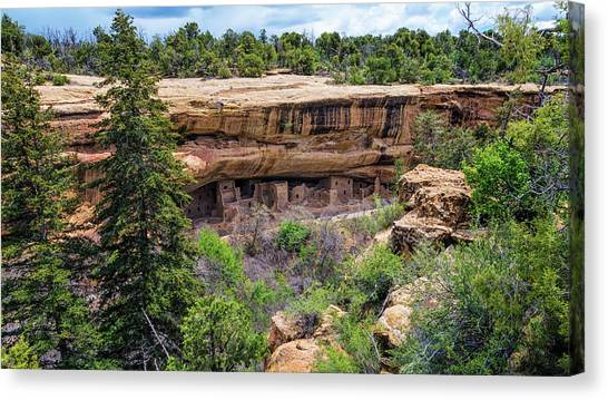 Verde Canvas Print - Spruce Tree House Mesa Verde by Joan Carroll
