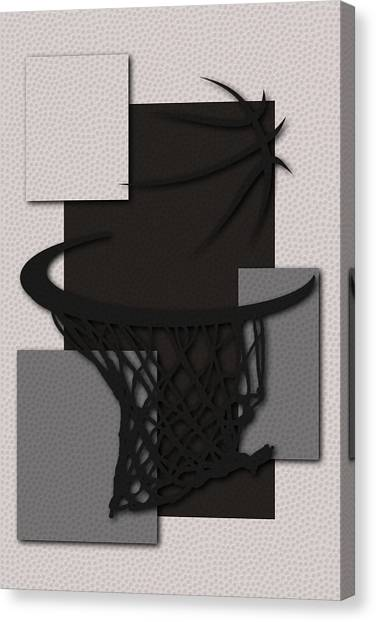 Spurs Canvas Print - Spurs Hoop by Joe Hamilton
