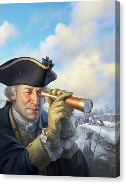 George Washington Canvas Print - Spymaster George by Mark Fredrickson