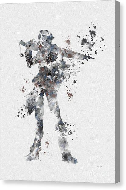 Xbox Canvas Print - Squall Leonhart by Rebecca Jenkins