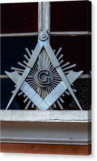 Square And Compass Canvas Print