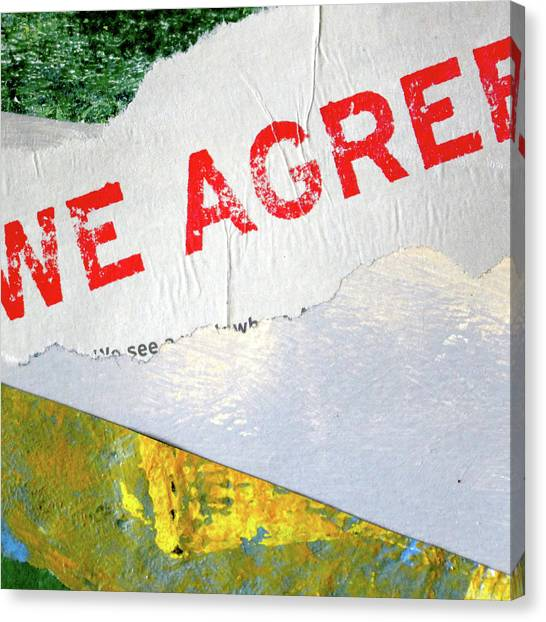 Torn Paper Collage Canvas Print - Square Collage No. 7 by Nancy Merkle