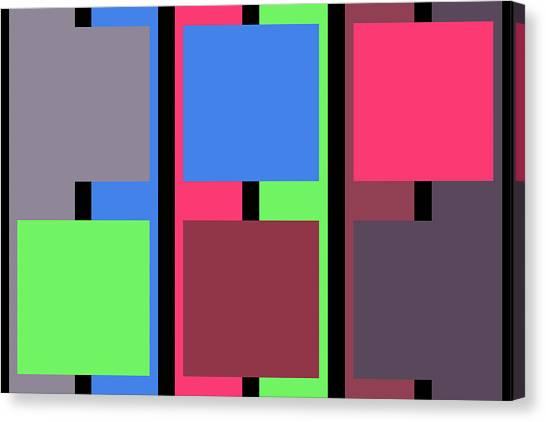 Square Stripe  - Zentao Canvas Print