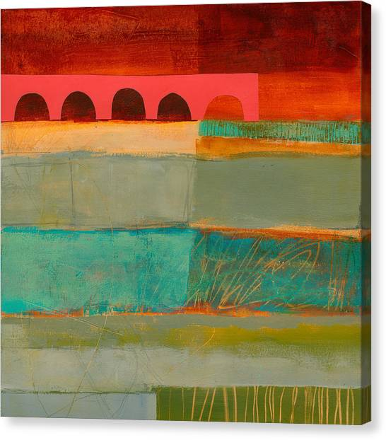 Collage Canvas Print - Square Stripes by Jane Davies