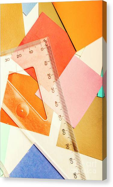 Desks Canvas Print - Squaring A Triangular Rule by Jorgo Photography - Wall Art Gallery