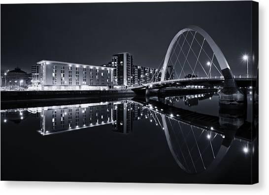 Squinty Bridge Glasgow Canvas Print