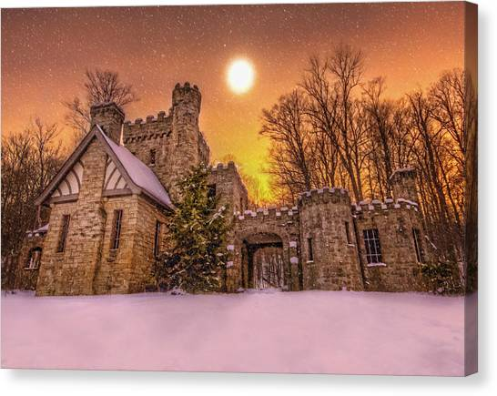 Squires Castle In The Winter Canvas Print