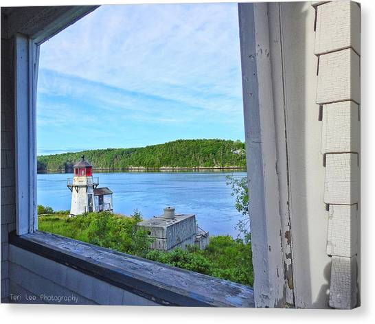 Squirrel Point View From The Deck Canvas Print