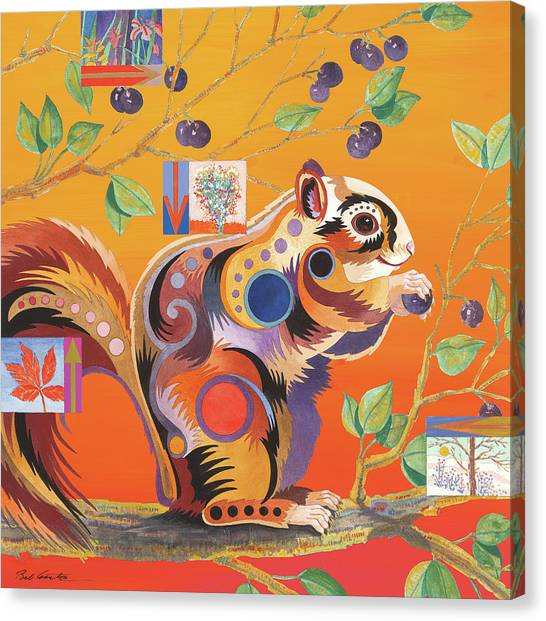 Squirrelling Away Canvas Print