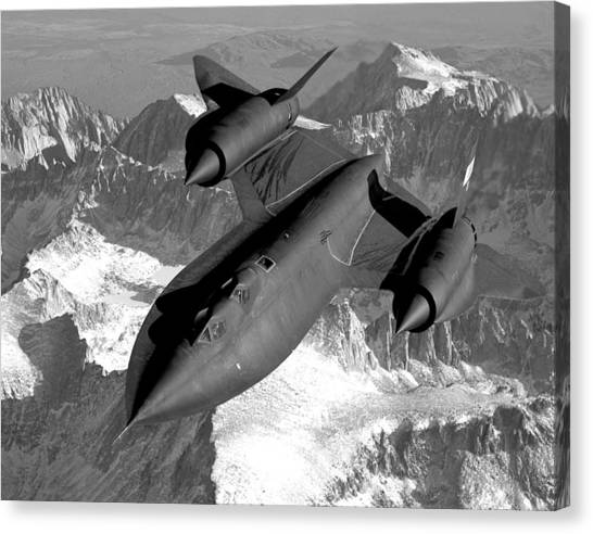 Blackbirds Canvas Print - Sr-71 Blackbird Flying by War Is Hell Store