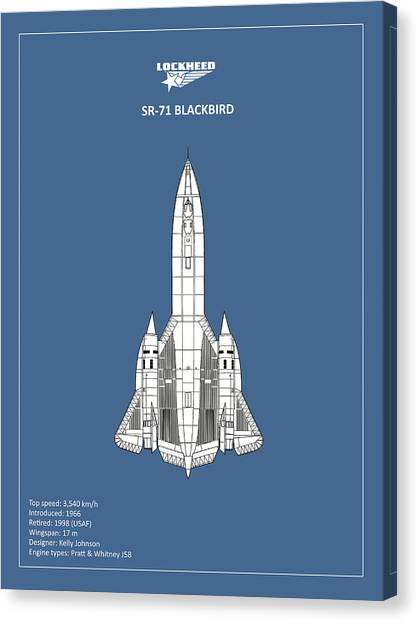 Blackbirds Canvas Print - Sr-71 Blackbird by Mark Rogan