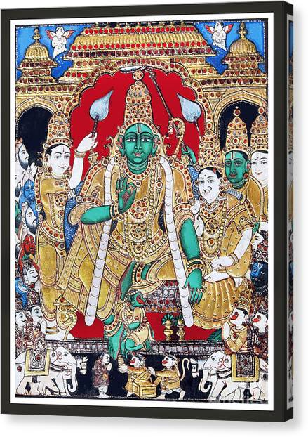 Sri Ramar Pattabhishekam Canvas Print