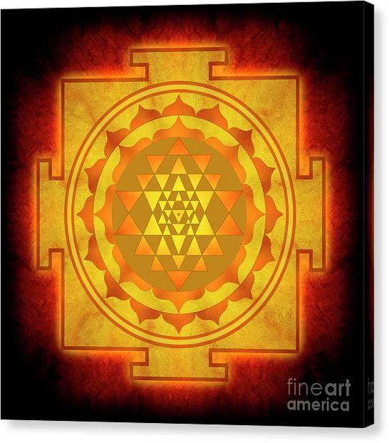 Hinduism Canvas Print - Sri Yantra - No. 1 by Dirk Czarnota