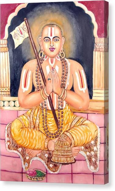 Srimadh Ramanujar Canvas Print by Sankaranarayanan