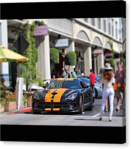 Vipers Canvas Print - Srt Viper Ta Powered By A 8.4l V10 by Vadim Shamilov