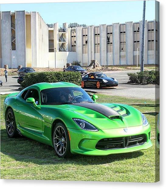 Vipers Canvas Print - Srt Viper #dodge #viper #supercar #srt by Thrill Cars