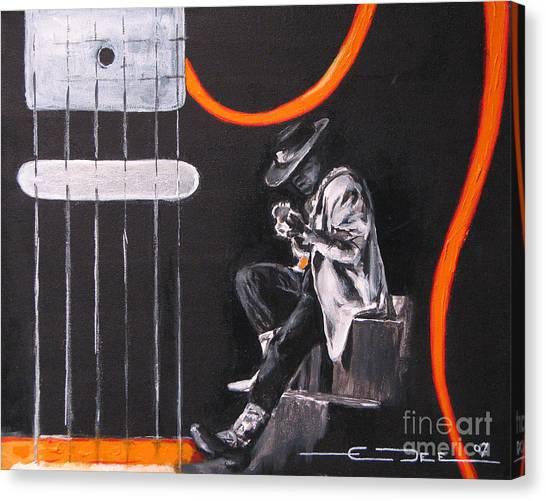 Srv - Stevie Ray Vaughn Canvas Print