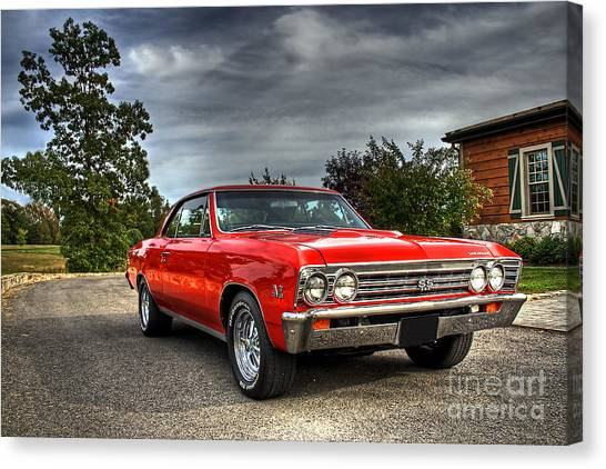 Chevelle Canvas Print - Ss 396 Chevelle by Tim Wilson