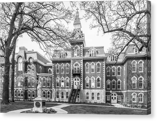 University Of Iowa Canvas Print - St. Ambrose University Ambrose Hall by University Icons