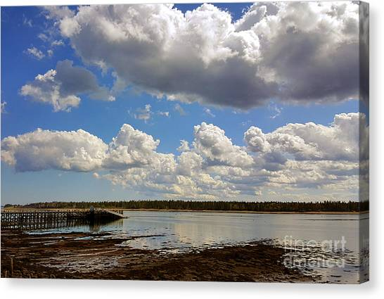 St. Andrews At Low Tide Canvas Print