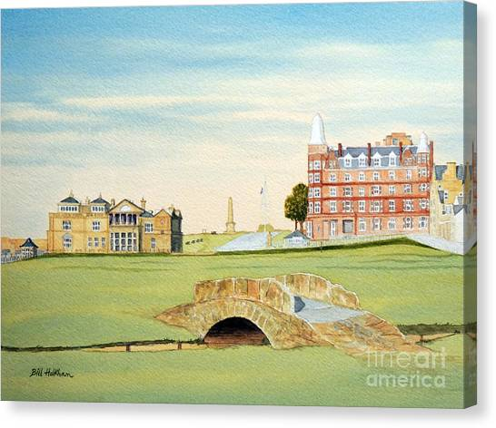 St Andrews Golf Course Scotland Classic View Canvas Print