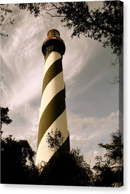 St. Augustine Light House Canvas Print by Kimberly Camacho