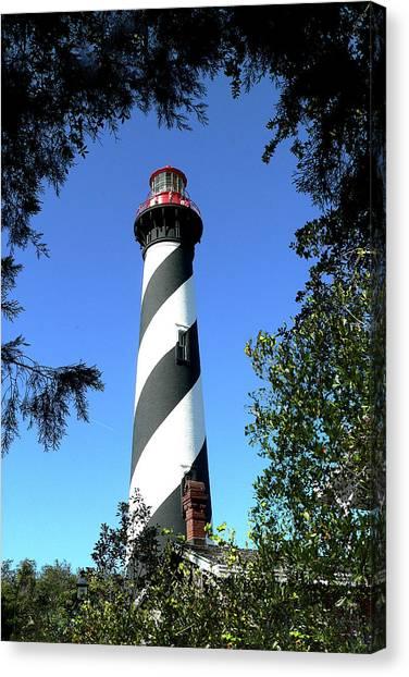 St. Augustine Light Tower Canvas Print