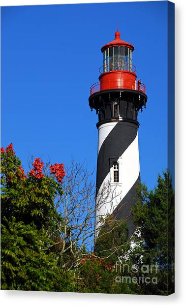 St. Augustine Lighthouse Canvas Print by Georgia Nick