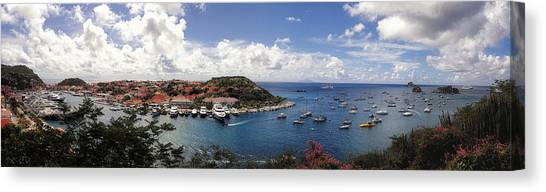 Canvas Print featuring the photograph St. Barths Harbor At Gustavia, St. Barthelemy by Lars Lentz