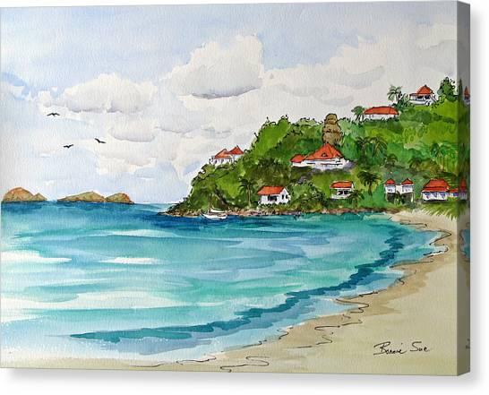 Carribbean Canvas Print - St. Barts In The Carribbean by Bonnie Sue Schwartz